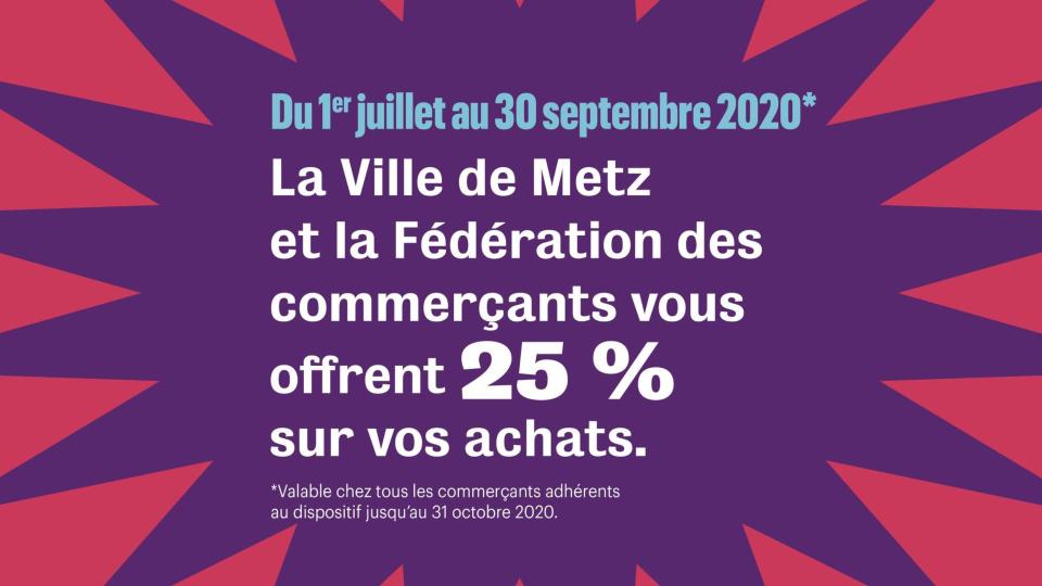 Photo de Metz : des bons d'achats pour soutenir l'activité des commerces