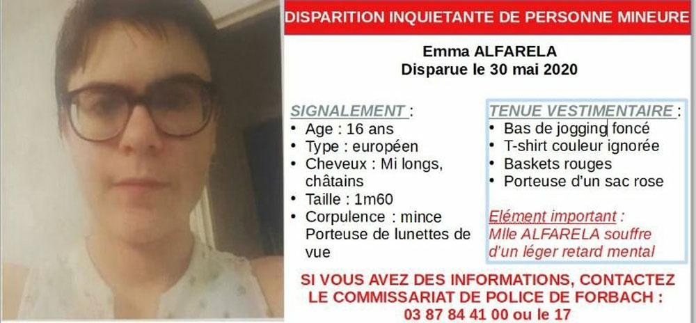 Photo of Forbach : Emma, 16 ans, portée disparue depuis le 30 mai