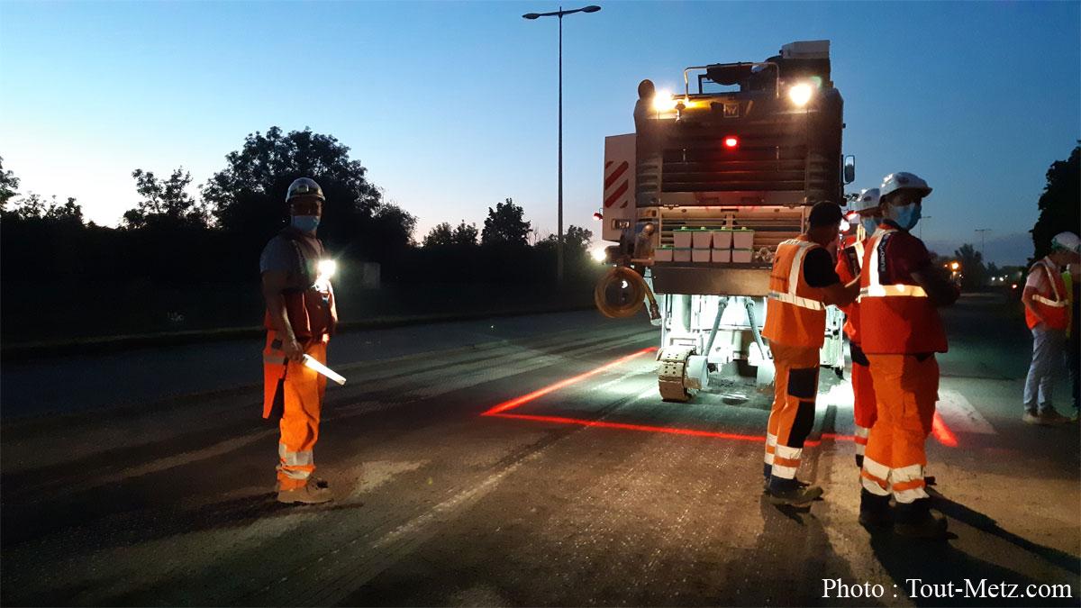 Photo de Rocade de Metz : encore 15 jours de travaux, de nuit