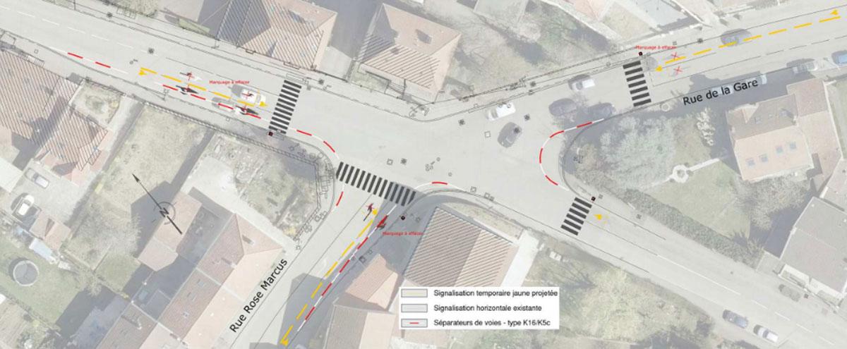 Photo de Woippy : réaménagement d'un carrefour pour optimiser les bus et sécuriser piétons et vélos