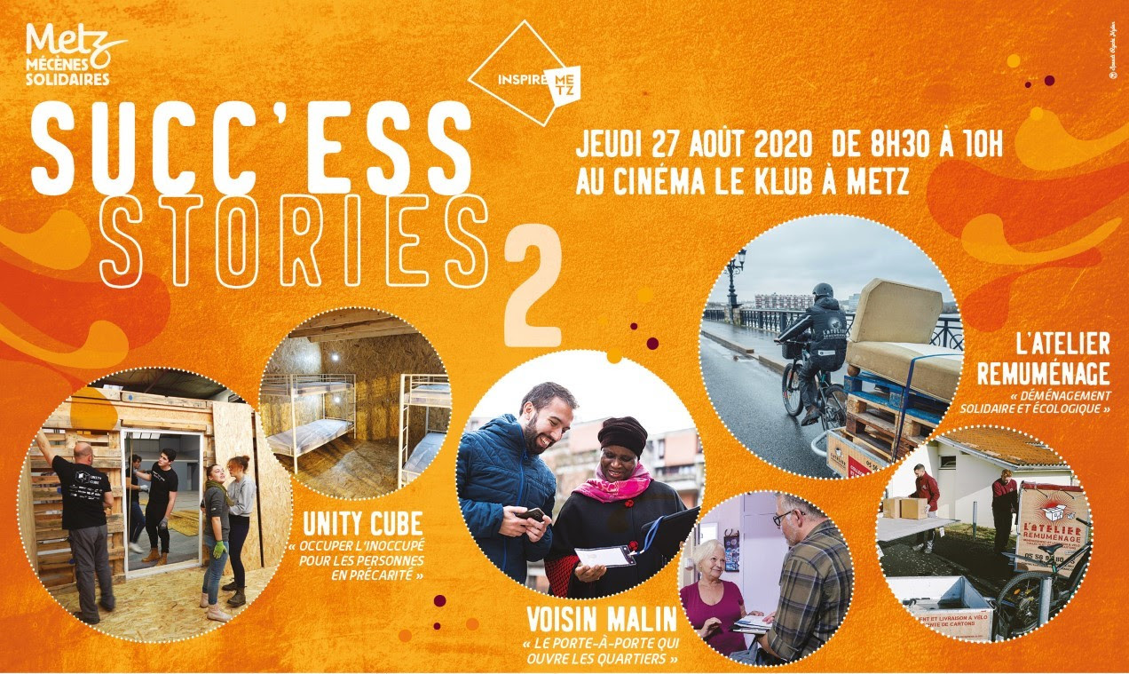 Photo de Metz : partage de Succ'ESS Stories au cinéma le Klub