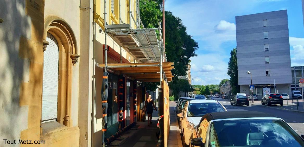 Photo de Metz : des travaux rue Haute Seille