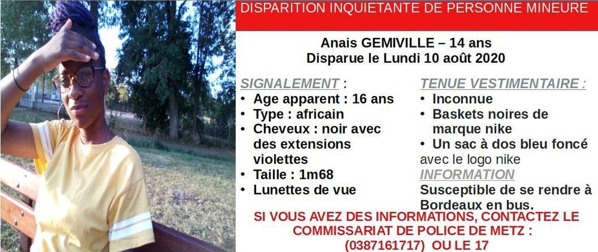 Photo of Metz : un appel à témoins après la disparition inquiétante d'une jeune adolescente