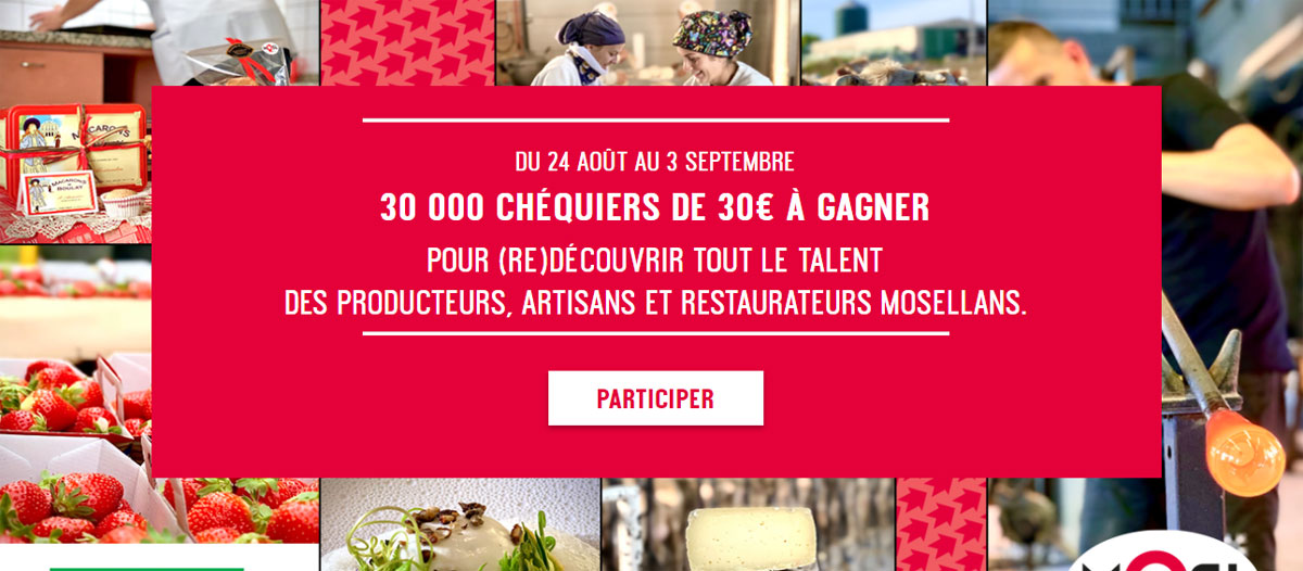 Photo de Moselle : 30 000 chèques cadeaux de 30€ à gagner