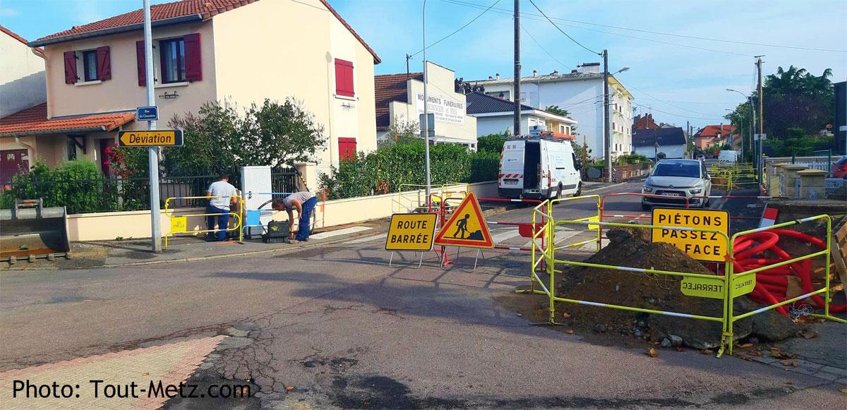 Photo de Montigny : travaux en cours pour une nouvelle zone de rencontre