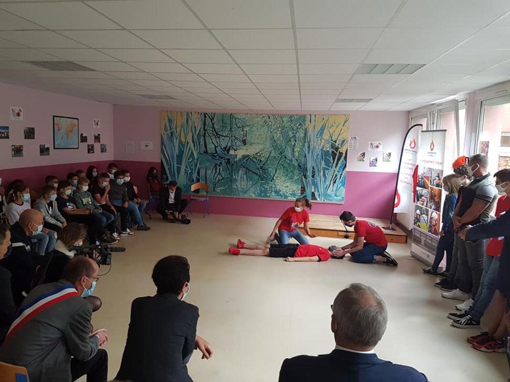 Photo de La secrétaire d'État chargée de la jeunesse en visite à Metz